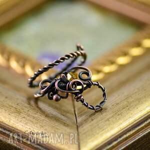 brązowe pierścionki regulowany-rozmiar kurkuma - pierścionek w regulowanym