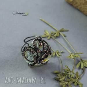 eleganckie pierścionki pierścionek kwarc z rutylem -