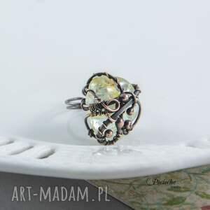 eleganckie pierścionki rutyl kwarc z rutylem - pierścionek