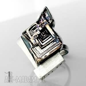 eleganckie srebro labirynt srebrny pierścień z