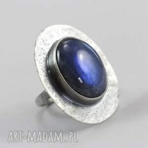 pierścionki labradoryt niebieski i srebro