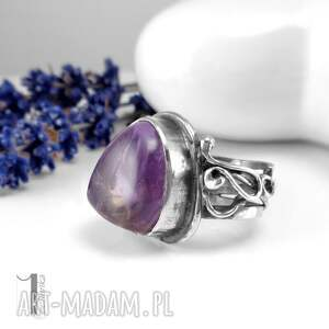 pierścionki srebro lavender srebrmy pierścionek