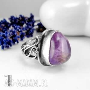 pierścionki regulowany lavender srebrmy pierścionek