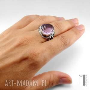 pierścionek pierścionki lavender srebrmy