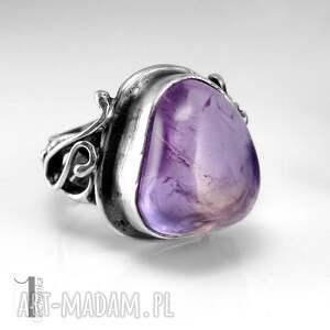 szare pierścionki pierścionek lavender srebrmy