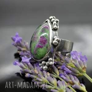 unikalne pierścionki pierścionek lawender - okazały