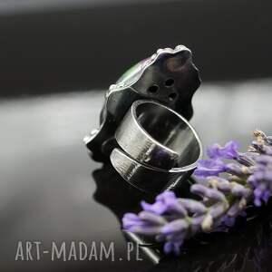 pierścionek pierścionki różowe lawender - okazały
