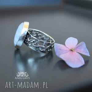 pierścionek pierścionki lawendowy..