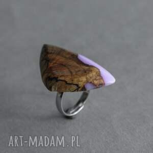 brązowe dla niej lawendowy pierścionek z drewna