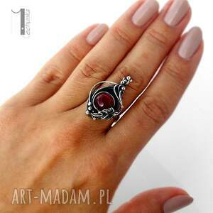 pierścionki prezent leśny skarb srebrny pierścień