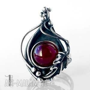 pierścionki srebro leśny skarb srebrny pierścień