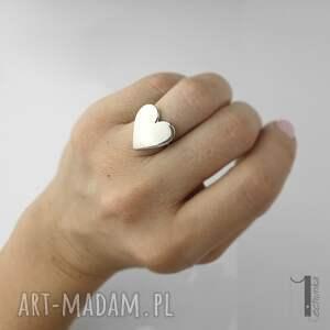 pierścionki metaloplastyka-srebro lovestory - srebrny pierścionek