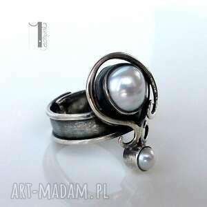 szare pierścionki srebro lucanus i - srebrny pierścionek z