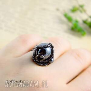 hematyt pierścionki mars - pierścionek z hematytem