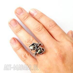 elegancki zielone marzyciel - pierścionek