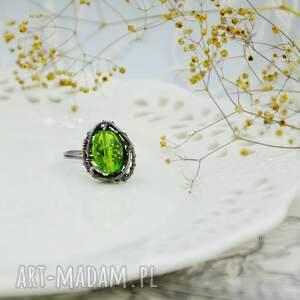 intrygujące regulowany rozmiar meadow green - pierścionek