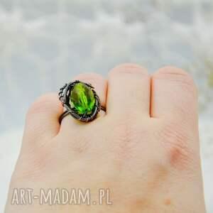 zielone pierścionek duży meadow green