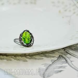 regulowany rozmiar meadow green - pierścionek