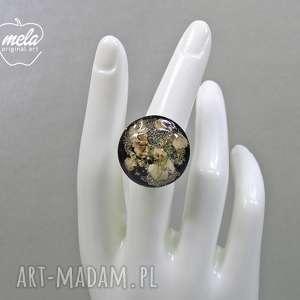 pierścionek 0546/ mela - kwiaty