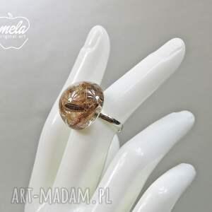 mela art brązowe pierścionek 0676/~mela~ - nasiona