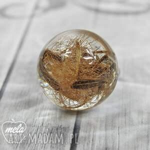 żywica 0676/~mela~ pierścionek - nasiona