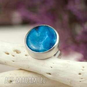 pierścionki pierścionek-z-agatem minimalistyczny srebrny pierścionek