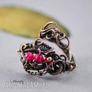pierścionek pierścionki czerwone morrigan - z agatem