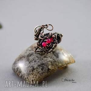 trendy pierścionki pierścionek morrigan - z agatem
