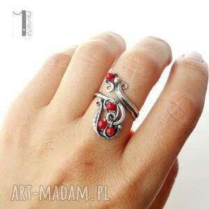 wirewrapping pierścionki motyle srebrny pierścionek