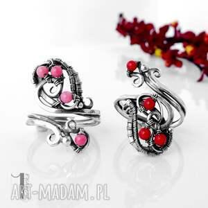 pierścionki wirewrapping motyle srebrny pierścionek