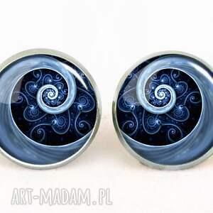 regulowany pierścionki niebieska spirala - pierścionek