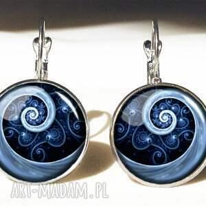 pierścionki pierścionek niebieska spirala