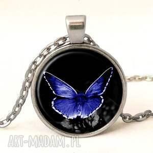 ręczne wykonanie pierścionki szklany niebieski motyl - pierścionek