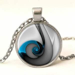 ślimak pierścionki niebieski - pierścionek