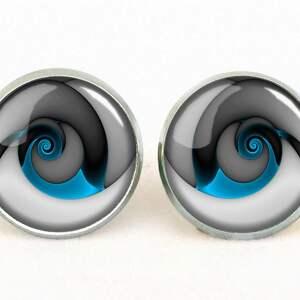 pierścionki spirala niebieski ślimak - pierścionek