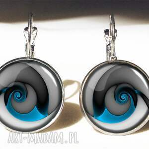 gustowne pierścionki regulowany niebieski ślimak - pierścionek
