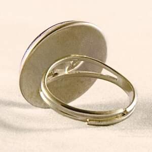 czarne pierścionki ślimak niebieski - pierścionek