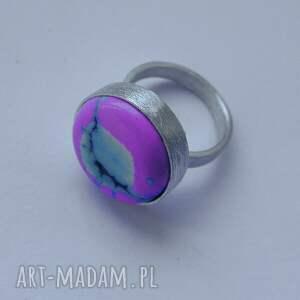 intrygujące srebro okrąg pierścionek