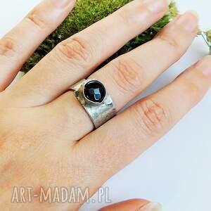 cyna pierścionki onyks - pierścionek