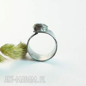 czarne pierścionki onyks - pierścionek