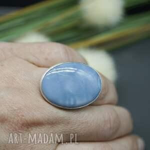 opal niebieskie niebieski - pierścionek sahara