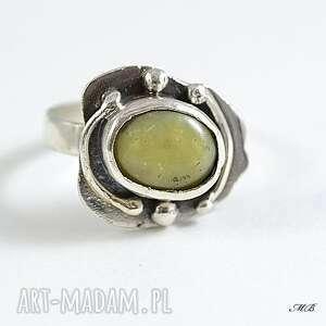 niekonwencjonalne pierścionek opal żółty