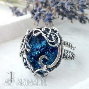 kwarc osobliwość - blue sky rose srebrny