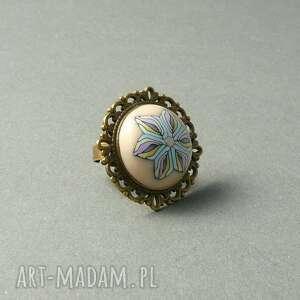 pierścionki pastelowy pierścionek z polymer