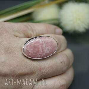 rodochrozyt pierścionki pastelowy - pierścionek