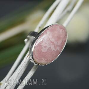 pierścionki pierścionek pastelowy rodochrozyt -