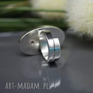 pierścionki rodochrozyt pastelowy - pierścionek