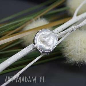 naruralna perła słonowodna - pierścionek
