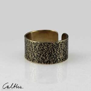 pierścionek piasek - mosiężny