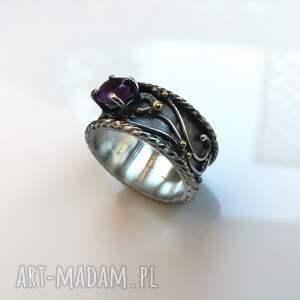 handmade pierścionki srebro pierścień królewski